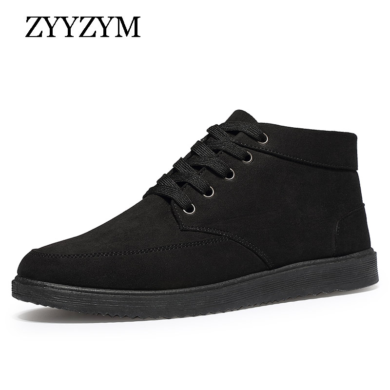 ZYYZYM Men Boots Winter Snow Boots For Man Lace-Up Style Fashion Casual Plush Non-slip Keep Warm Youth Cotton Shoes hot sale winter new men winter snow boots brand outdoor keep warm fashion casual shoes ankle lace up non slip man cotton shoes