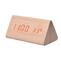 Hot! Twórczy Wyświetlacz Temperatury Sterowania Elektroniczny LED Budzik Dźwięki Najlepsza Cena Wysokiej Jakości Drop Shipping Jun23