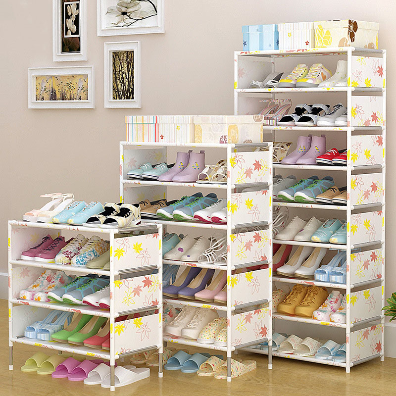 Shoes shelf Easy Assembled Non-woven Multi Layer Shoe Rack Shelf Storage Organizer Stand Holder Keep Room Neat Door Space Saving creative shoe rack easy receive shoe rack non woven
