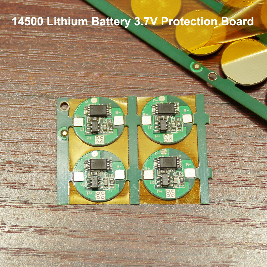 Купить с кэшбэком 10pcs 14500 lithium battery protection board 3.7V universal single MOS anti-overcharge over-discharge protection circuit board