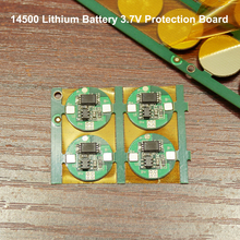 1pcs 14500 lithium battery protection board 3.7V universal single MOS anti-overcharge over-discharge protection circuit board battery anti over discharge controller with time delay over protection board low voltage off load and alarm