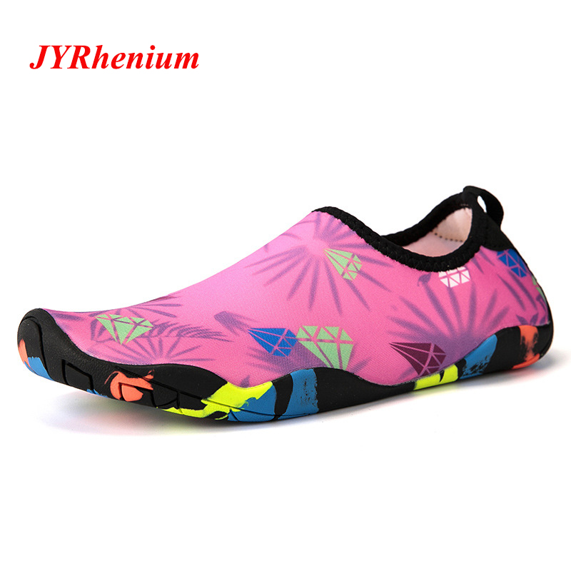 2019 New Arrival Summer 35 46 Size Women Beach Shoes Slippers Upstream Shoes Men Swimming Sandals Diving Socks Tenis Masculino in Upstream Shoes from Sports Entertainment