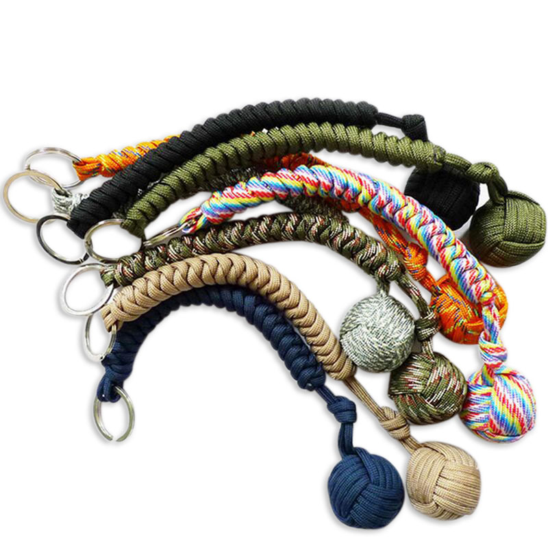 Steel-Ball Lanyard Survival-Key-Chain Monkey Fist Security-Protection Self-Defense Outdoor