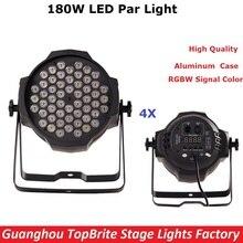 4Pcs/Lot2017  New Design Aluminum Case 180W LED Par Lights High Quality 54X3W RGBW Signal Color LED Flat Par Cans Fast Shipping