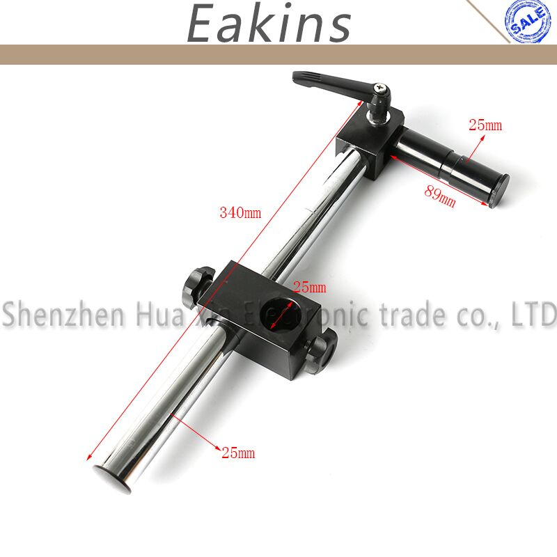 Diameter 25mm Heavy Duty Multi axis Adjustable Metal Arm Support for Video Industry Microscope Table Stand