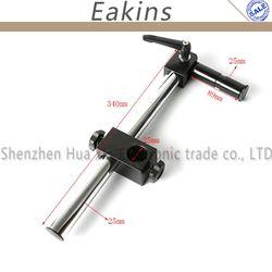 Suporte ajustável multi-eixo resistente do braço do metal do diâmetro 25mm para o suporte video da tabela do microscópio da indústria parte