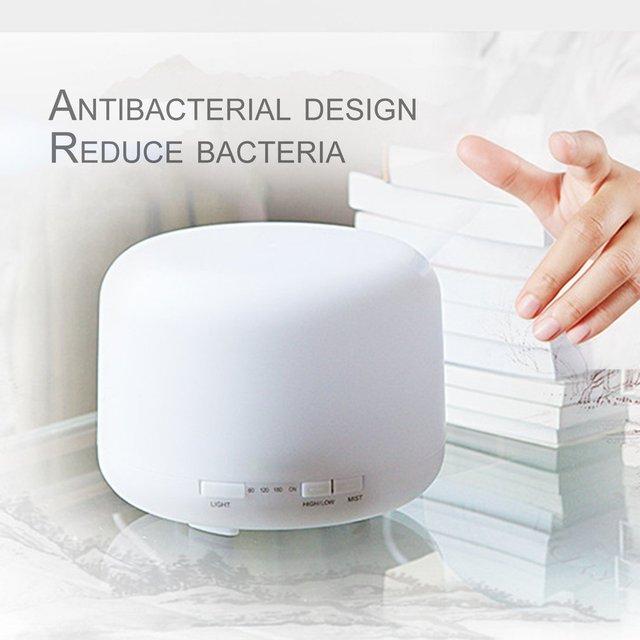 Ultrasonic Humidifier 500ml Mist Diffuser Sprayer Office Home Desktop Purifier Night Light LED Air Humidifier Mute Operation