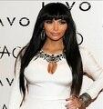 Афро американский синтетическая парики длинные Staight черный жаропрочных для женщин