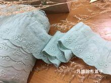Renda de algodão bordada artesanal, faça você mesmo, retrô, tecido de algodão, renda, verde, 6.5cm