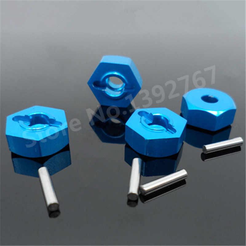 4 stks/partij HSP Aluminium Wiel Hex Moer 4 p 12mm 102042 (02134) upgrade Onderdelen Voor 1/10 Schaal Modellen 4WD R/C Hitmoto 33009 Redcat