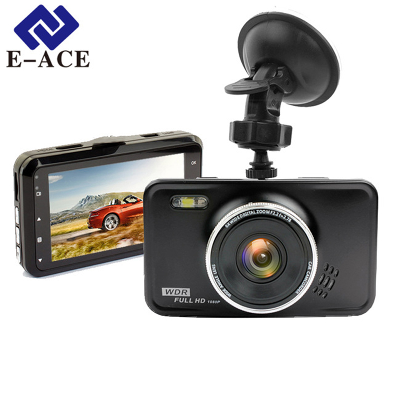 E-ACE Car Dvr Camara Full HD 1080P Videobandspelare Med Led Lampa Dashcam Auto Registrar Bil Videokamera Dash Camera Car DVRs