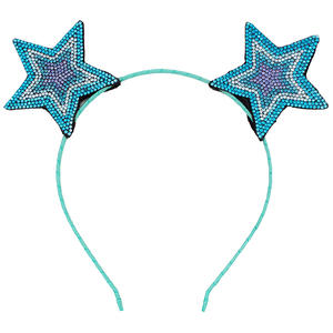 Baby Party Props Colorful Star Ears Girl Headwear Lady Stylish Headband Hair Hoop Accessories For Women Hair band Kids Head Band