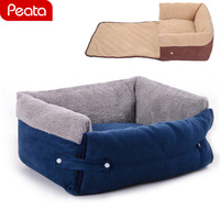 Dog Bed for Medium Large Dogs Sofa Bed Cat Pet House Removable Cover Warm Soft Cotton Padded Cat Dog Puppy Fleece Y