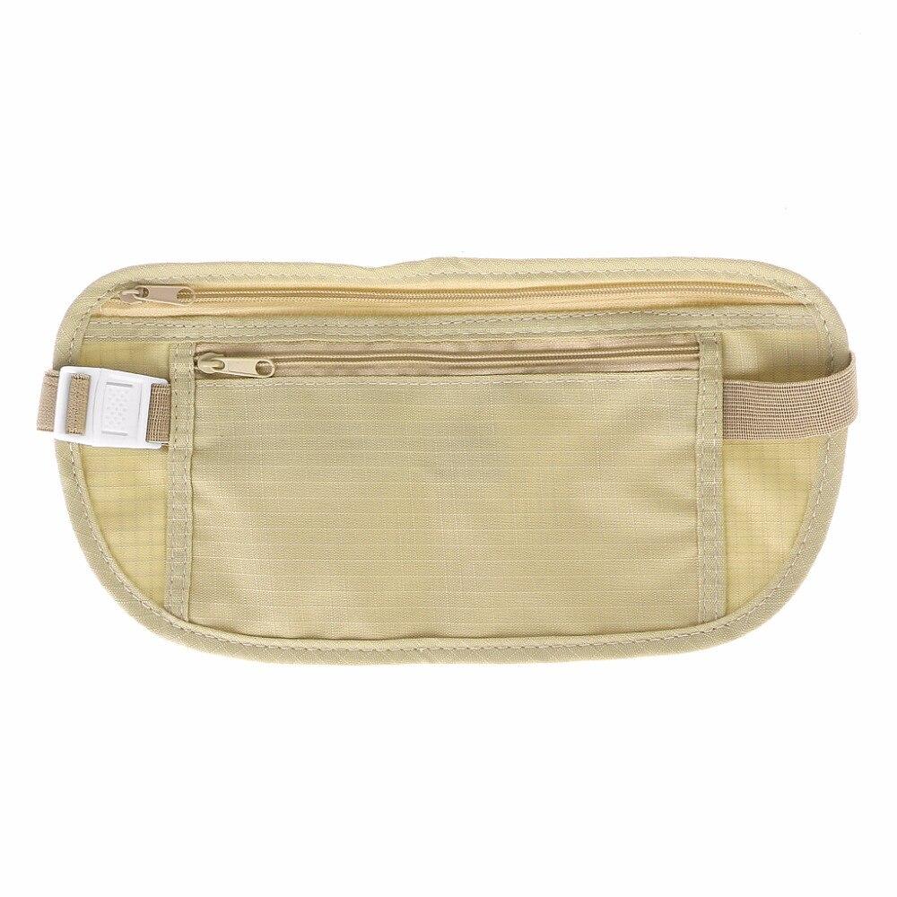 157b50f065d1 US $1.4 22% OFF|Cloth Travel Pouch Hidden Wallet Passport Money Waist Belt  Bag Slim Secret Security Useful Travel Storage Bag-in Storage Bags from ...