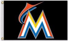 Miami Marlins MLB Flag 3X5FT Flag Hot Products Sale 90×150 cm Outdoor Sports Flag Brass Metal Holes Custom Flag