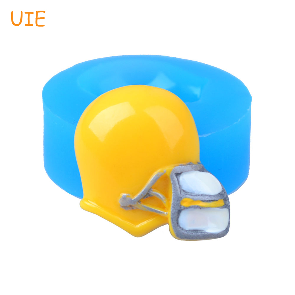 FYL437U 26.2mm Football Helmet Silicone Push Mold - for Decorative, Fondant, Sugarcraft, Chocolate, Gum Paste, Resin Clay Mold