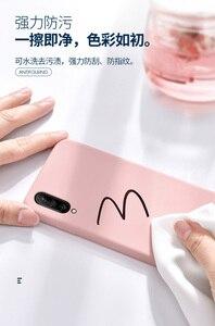 Image 3 - Für xiaomi mi A3 Fall Weiche Flüssigkeit Silikon Schlank Haut Coque Schutzhülle zurück abdeckung Fall für xiaomi mi a3 lite a3lite telefon shell