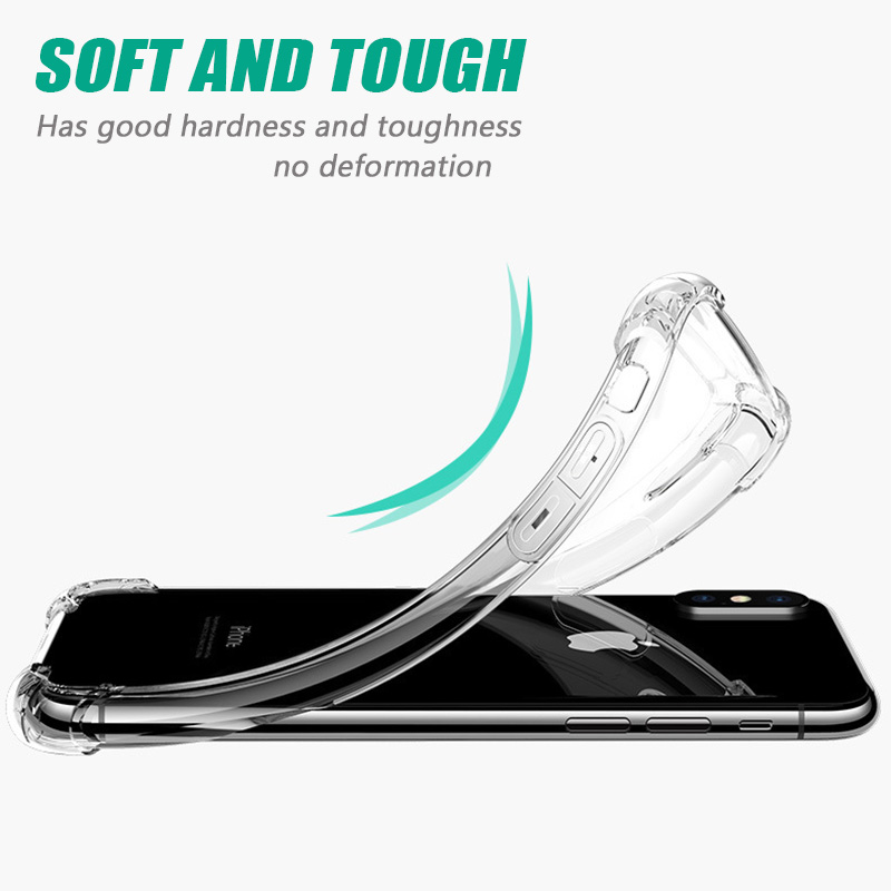 KIPX1046_7_Luxury Anti-knock Transparent Cases for iPhone XS XR XS Max Silicone Phone Cover for iPhone 5S SE 6S 7 8 Plus Soft Case