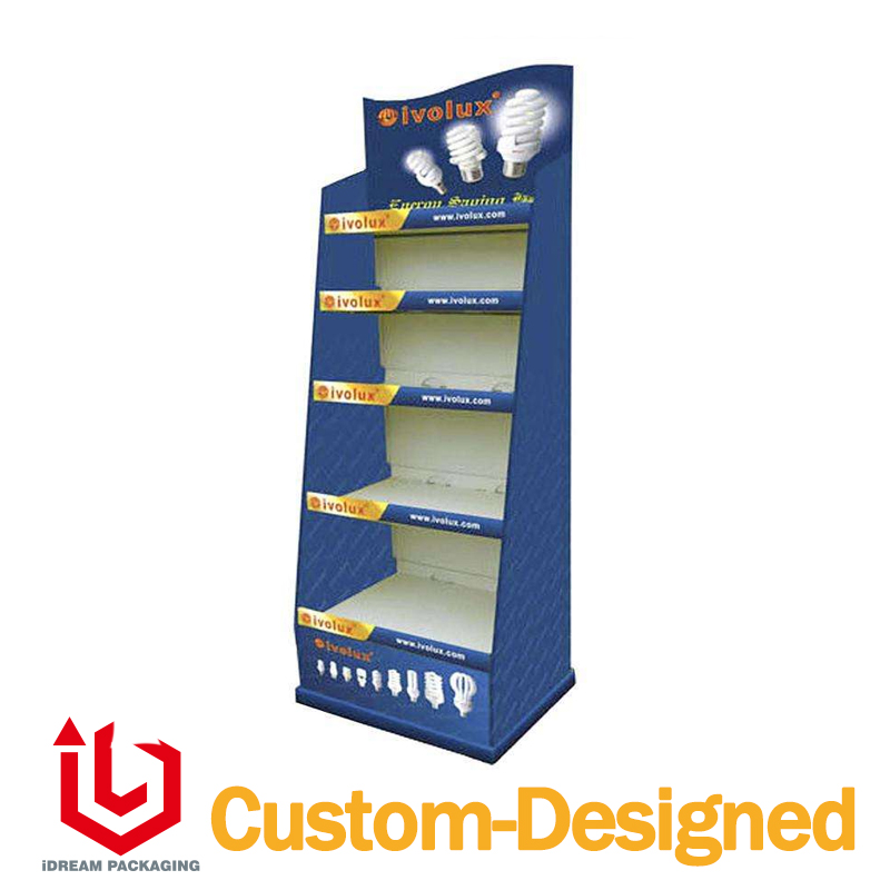 Floor Stand Displays Cmyk Printing For Lamp Light 30x40x160cm In Jewelry Packaging Amp Display
