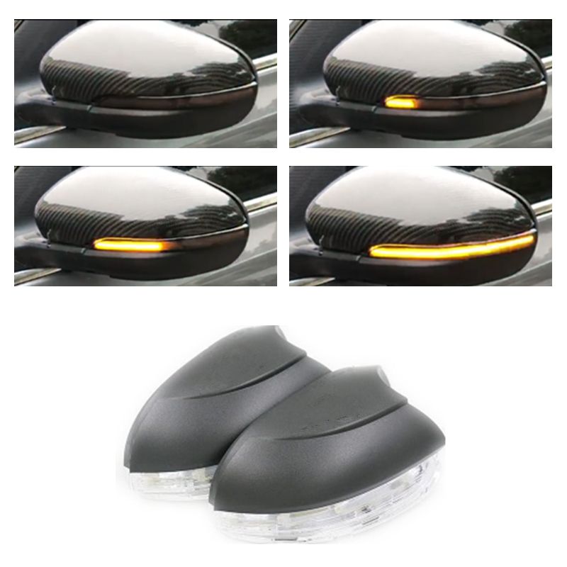 Dynamic LED Indicator Turn Light Repeater Rearview Mirror Singal Suitable for Volkswagen VW Golf 6 MK6 GTI R Touran rhino tuning 2pc styling car led under mirror puddle light smd lighting for golf 6 gti cabriolet touran