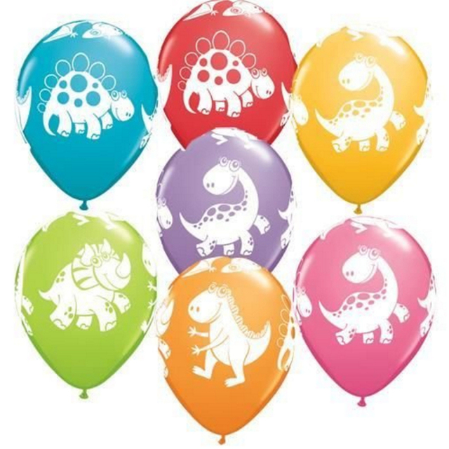 10pcs 12inch Jungle Dinosaur Balloons Thickened Latex Balloons Inflatable balls for Birthday Dinosaur party Supplies Kid Toys