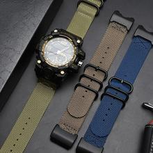 24mm Waterproof Nylon Straps Replacement Watch Band With Tools Strap For Casio Mens G-Shock GWG 100GB 1000 1000GB цена