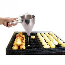 Маленькие шарики осьминога делая воронку выпечка капкейков диспенсер с стойкой кухня Воронка инструменты нержавеющая сталь