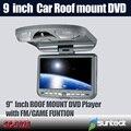 Бесплатная Доставка 9 дюймов Потолочный Автомобильный Dvd-плеер с 32-битной Игры + MPEG4 + USB + SD + FM + ИК