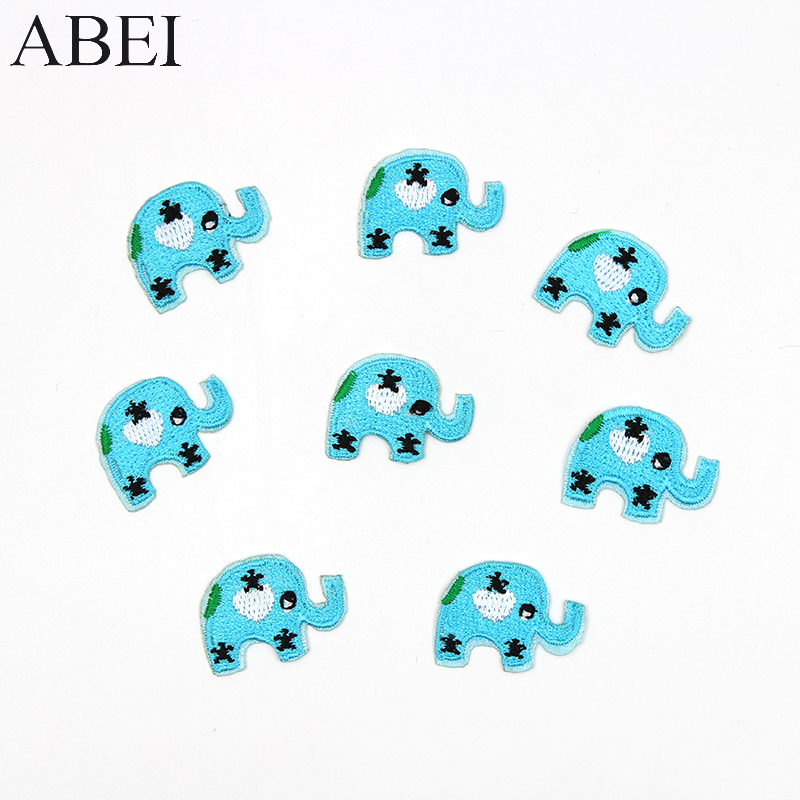 10pcs/lot Iron mini elephant Patches Embroidery cartoon animal Appliqued Diy Stickers Kids Baby Clothing Sewing Patch Badge