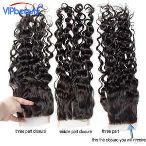Image 3 - Vip יופי ברזילאי מים גל רמי שיער 4x4 תחרה סגר משלוח חלק 100% שיער טבעי סגירת טבעי צבע 12  18 אינץ