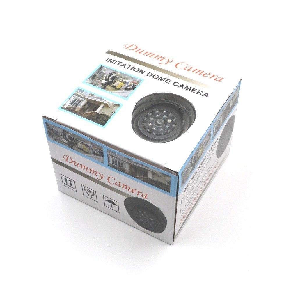 Outdoor CCTV Fake Simulation Dummy Camera Home Surveillance Security Dome Mini Camera Flashing LED Light Fake Camera Black