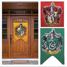 New College Flag Banners Gryffindor Slytherin Hufflerpuff Ravenclaw Boys Girls Kids Decor Harry Potter Halloween Party Supplies(China)