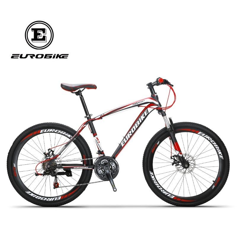 EUROBIKE X1 Mountain Bike 26 MTB Bicycle 21 Speed Dual Disc Brake