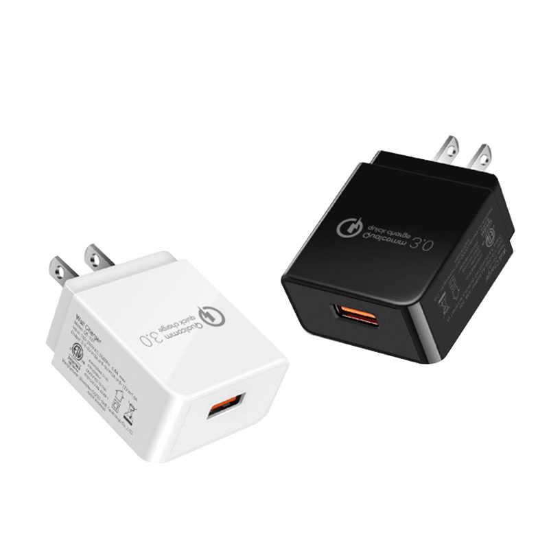 USB Sạc Sạc Nhanh 3.0 18 wát USB Sạc Du Lịch Xách Tay Tường Adapter MỸ Cắm đối Với Samsung Galaxy S8 S9 cho iPhone Cho Xiaomi