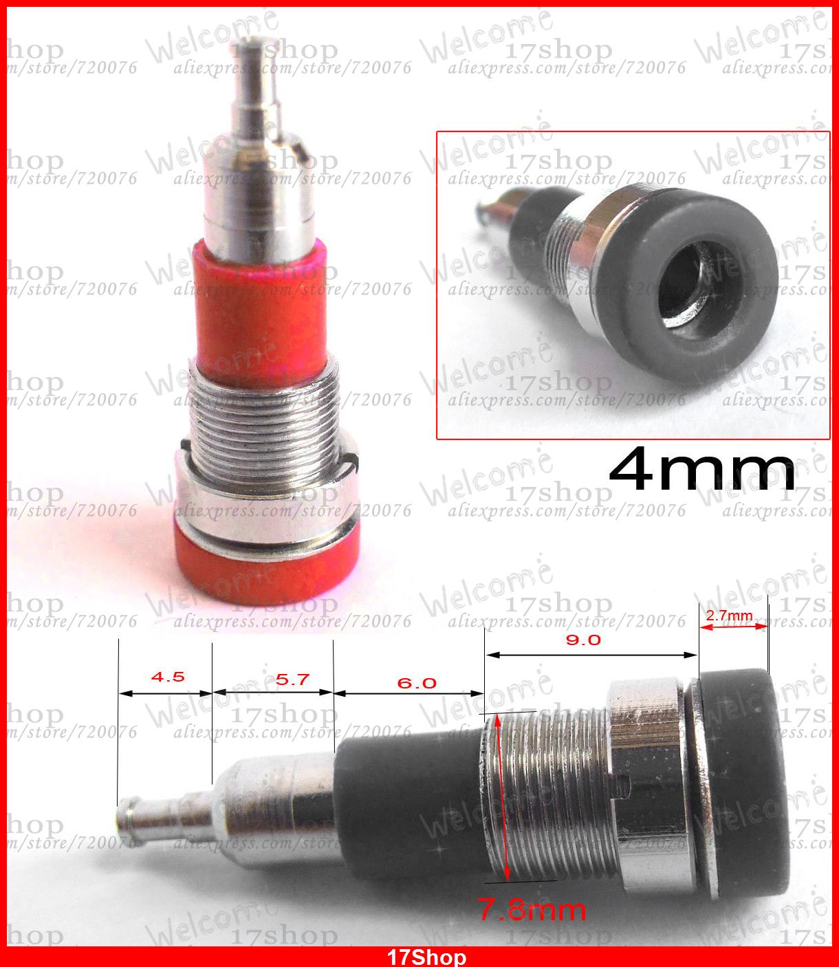 50PC Copper 4.0mm Banana Socket 4mm jack binding posts Terminals Probe Red Black-in Connectors from Lights & Lighting    1