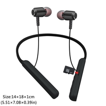With TF Memory Card Bluetooth Neckband Headset Handfree Sports with Mic Support card Earphones for Xiaomi