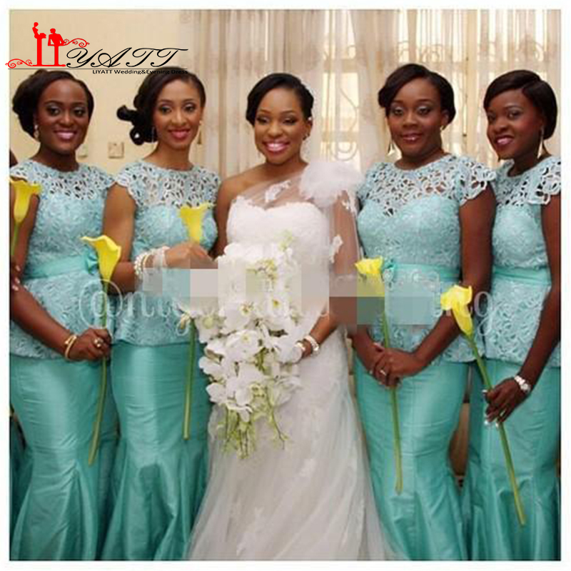 Nigerian Wedding Bridesmaids: Aliexpress.com : Buy 2016 Sexy Mint Lace Bridesmaid Dress