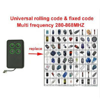 Auto Scan 280mhz 868mhz Multi Frequency Rolling Code And Fixed Code Remote Control Duplicator Face To