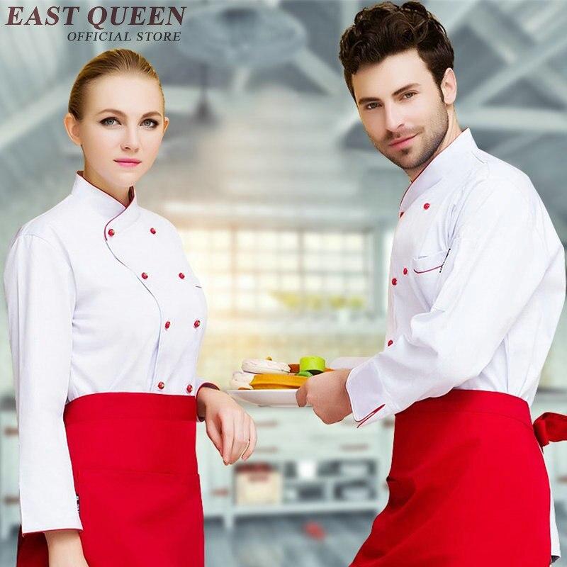 Food Service Chef Jacket Chinese Dragon Cook Clothes Women Men Hotel Kitchen Chef Uniform Clothing Restaurant Uniforms NN0037 W