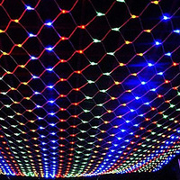2M X 3M 204 LED Garden String Lights Net In Colorful Fully Waterproof Lights For Christmas