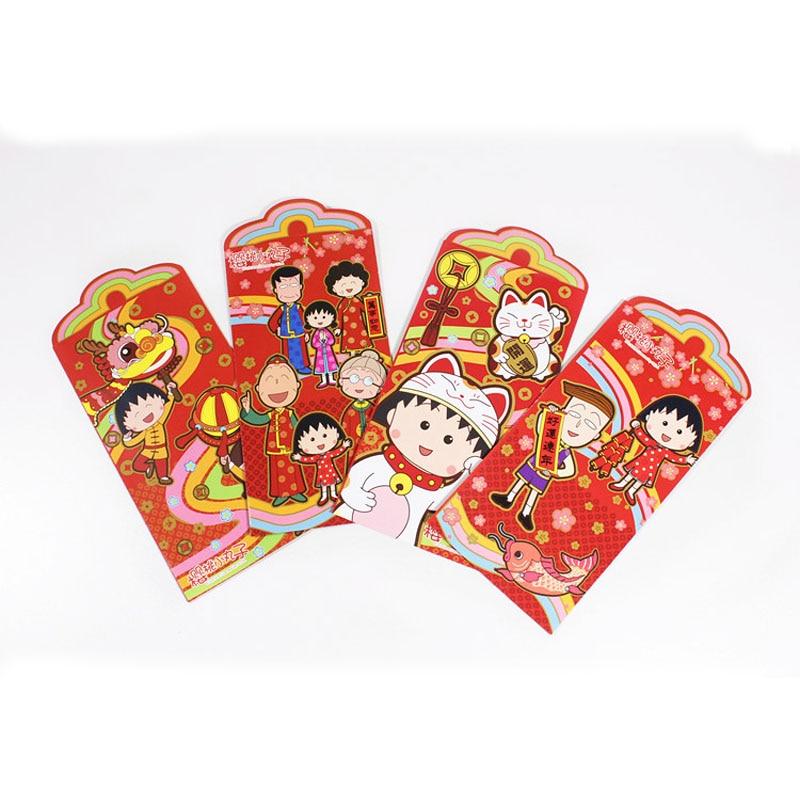 2 Pcs Kawaii Anime Maruko Momoko 2019 Cartoon Chinese Red Envelope Children New Year Red Pocket Multi Style Stationery