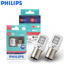 Philips LED P21/5W S25 1157 11499ULR Ultinon LED Red Color Car Turn Signal Indicators Light Fog Lamp Reversing Light, Pair(China)