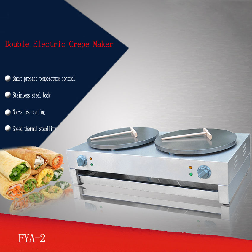 1PC Electric pancake machine Commercial Scones Making Machine non-stick pancake machine Crepe machine/ Pancakes grill 2 pc 220v crepe machinist grasp bread machine single head electric heating circle non stick pancake machine