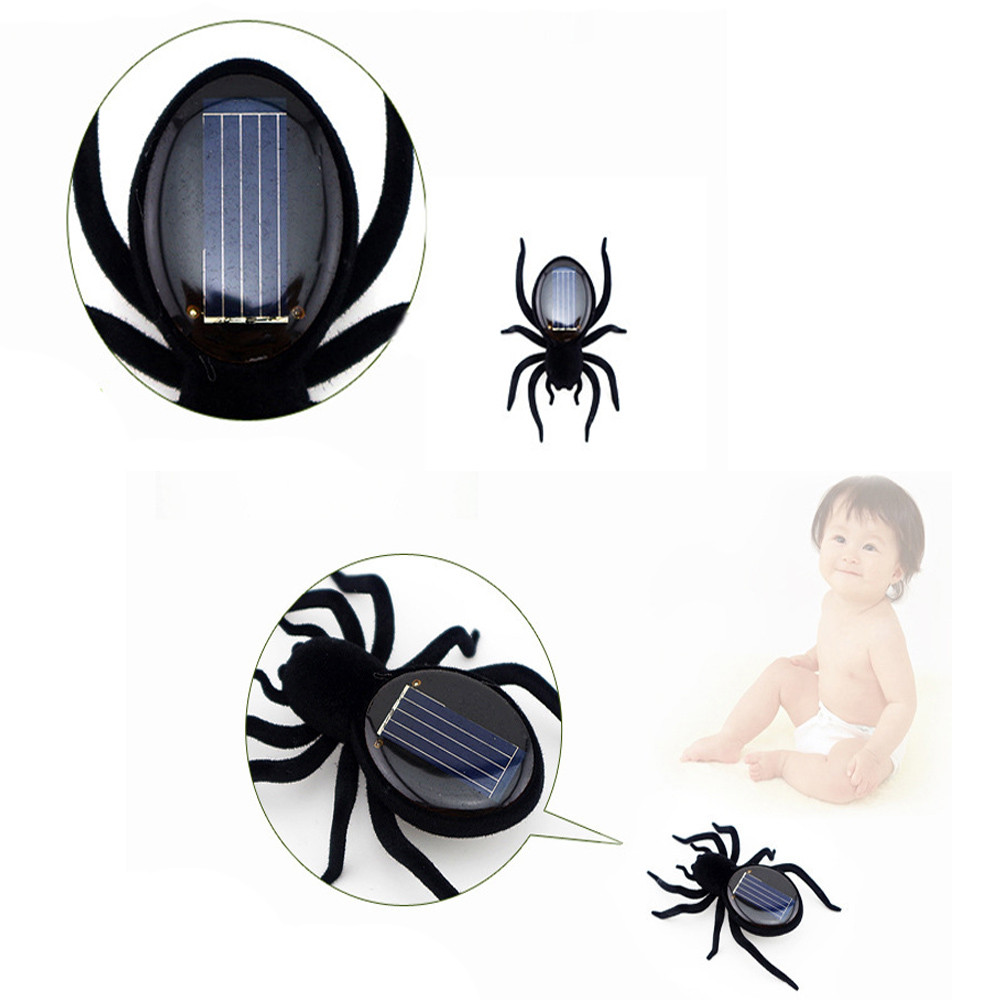 Educational Solar Powered Spider Robot Mini gadget Toy Solar Powered funny kids toys gift for boys A521