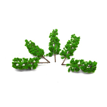 20PCS 11cm New scale model DIY making trees Green Model Wired Treesfor Garden Pack Street Layout