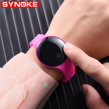Synoke smart watch men Waterproof sport watch Digital Women Heart Rate Monitor digital watch For Android IOS phone Call Reminder