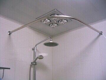 Ispessimento 304 in acciaio inox doccia curvo bastone per for Bastone reggitenda per doccia