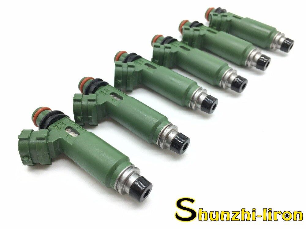 6 Stks Brandstof Injector Nozzle Voor Toyota Land Cruiser 100 1999-2009 1 Fzfe 4.5l Oem23209-66010 2320966010 23250- 66010 2325066010