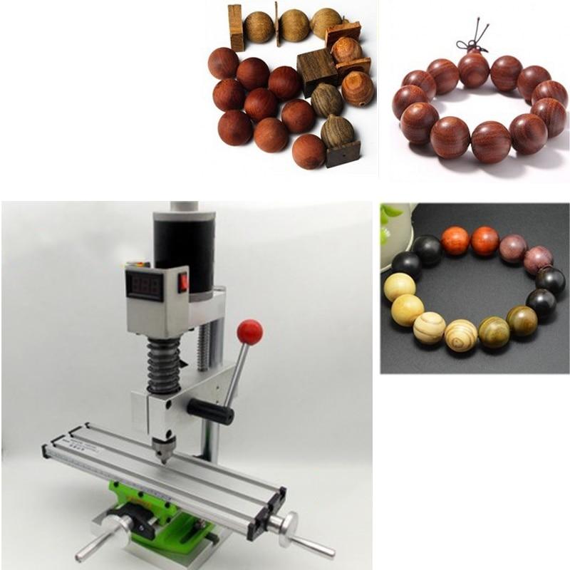 96W Mini Lathe Bead Wood Machine DIY Woodworking Lathe Standard Set With Power Grinding And Polishing Bead Drill Rotary Tool