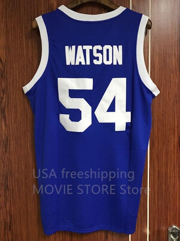 Prix pour DropShipping Au-dessus Du Bord Kyle Watson 54 Tournoi Shoot Out Basket-Ball Jersey Bleu S M L XL XXL XXXL